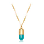 Turquoise Magic Capsule Gold Necklace