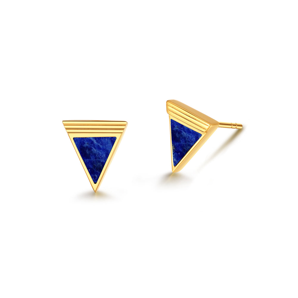 Load image into Gallery viewer, [PRE-SALE] Gold Triangle Stud Earrings