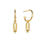 Diamond Magic Capsule Gold Hoop Earrings