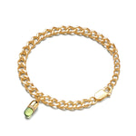 Peridot Diamond Magic Capsule Gold Bracelet