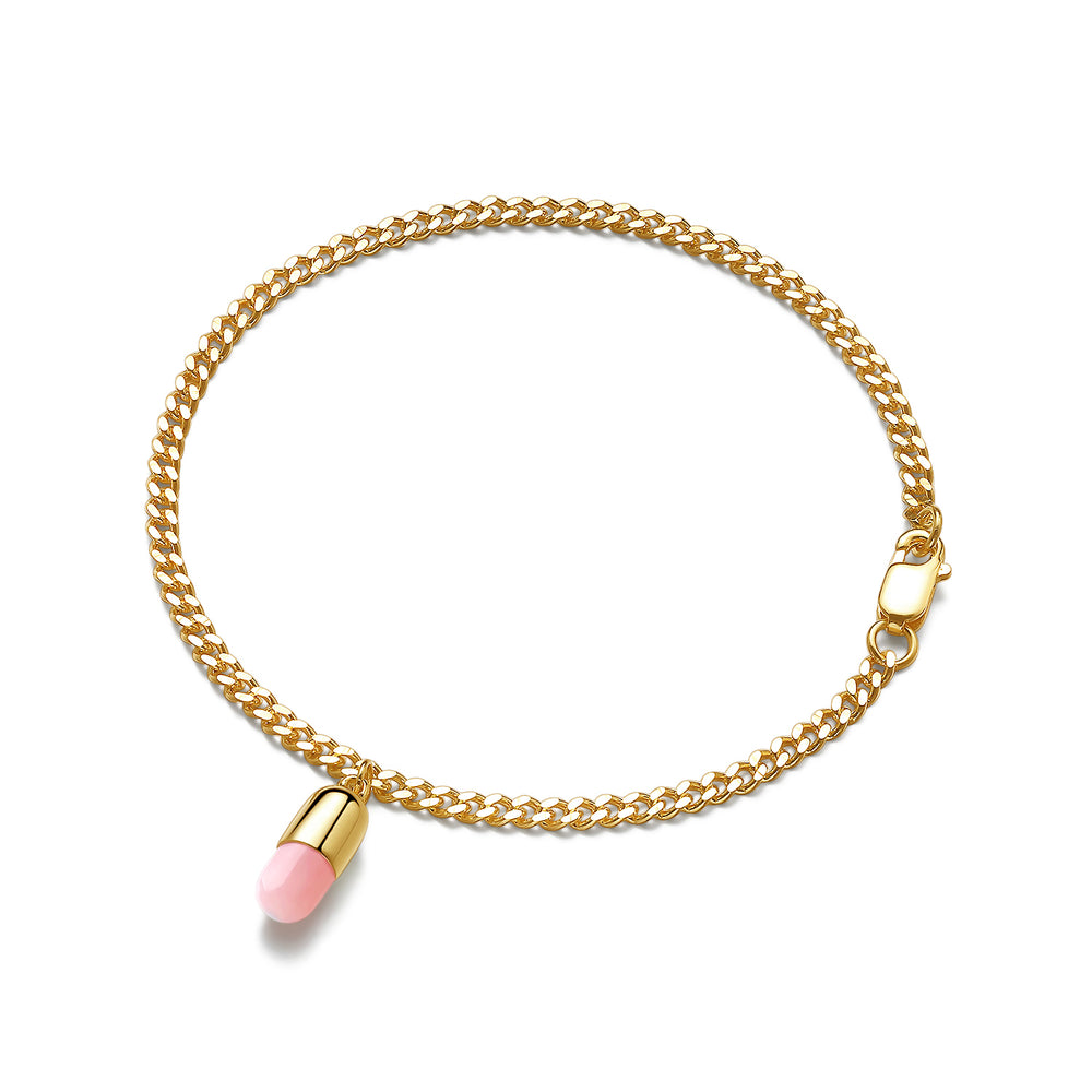 Pink Opal Magic Capsule Chain Bracelet