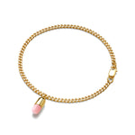 Pink Opal Magic Capsule Chain Gold Bracelet