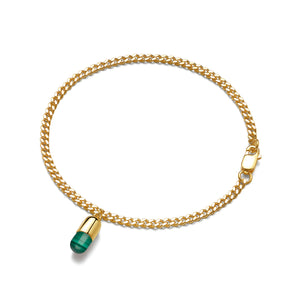 Malachite Magic Capsule Gold Bracelet