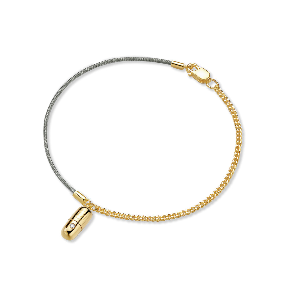 Diamond Magic Capsule String-Chain Gold Bracelet