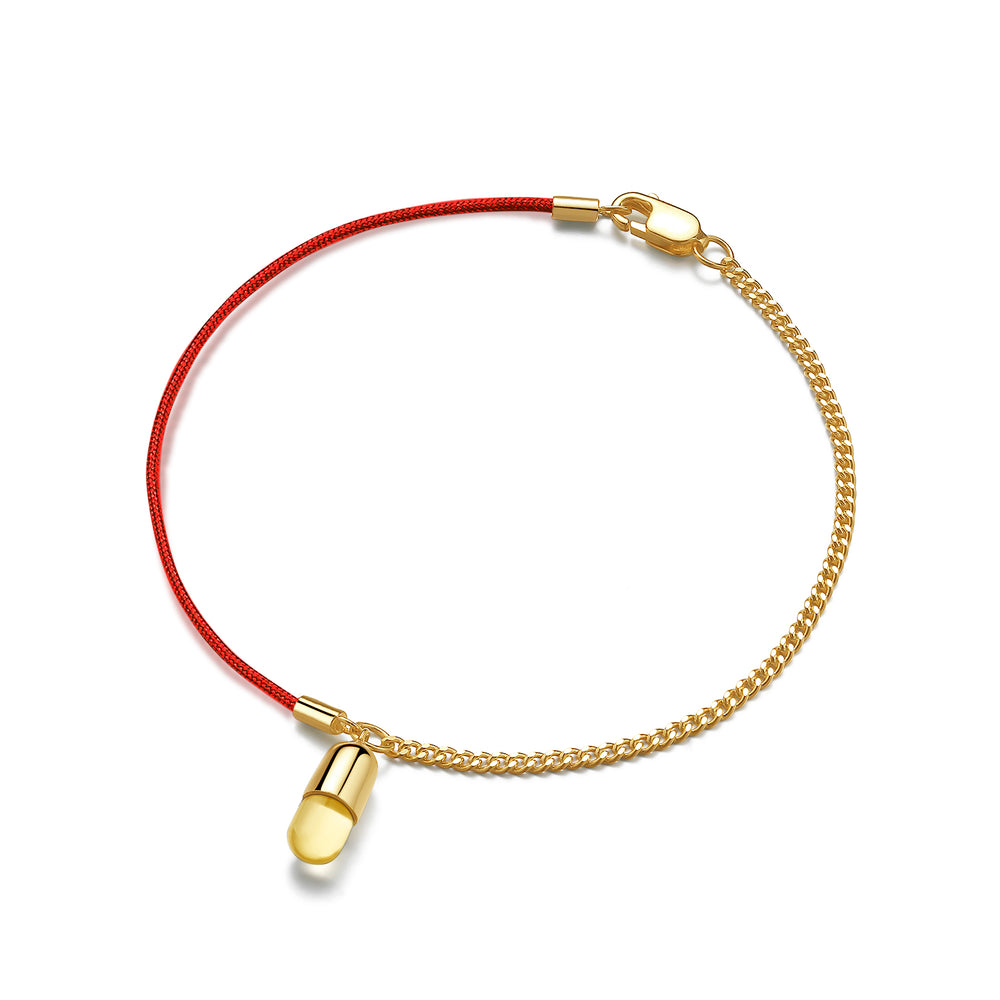 Citrine Magic Capsule String-Chain Bracelet