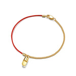 Citrine Magic Capsule String-Chain Gold Bracelet