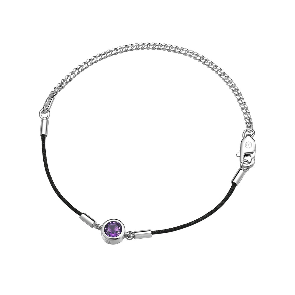 Amethyst Endless Luck String-Chain Bracelet