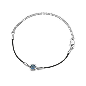 Load image into Gallery viewer, London Blue Topaz Endless Luck String-Chain Bracelet