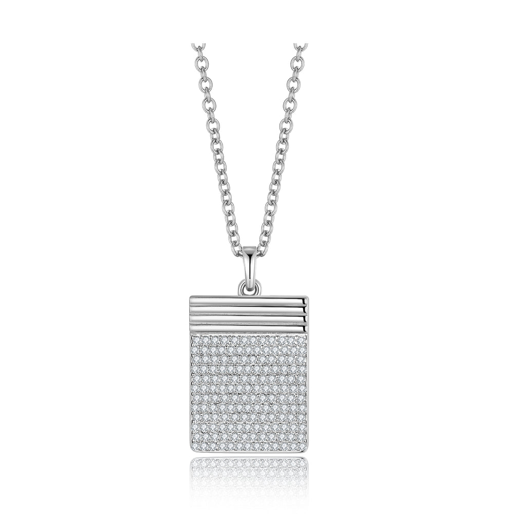 Diamond Geometría Square 18K White Gold Necklace