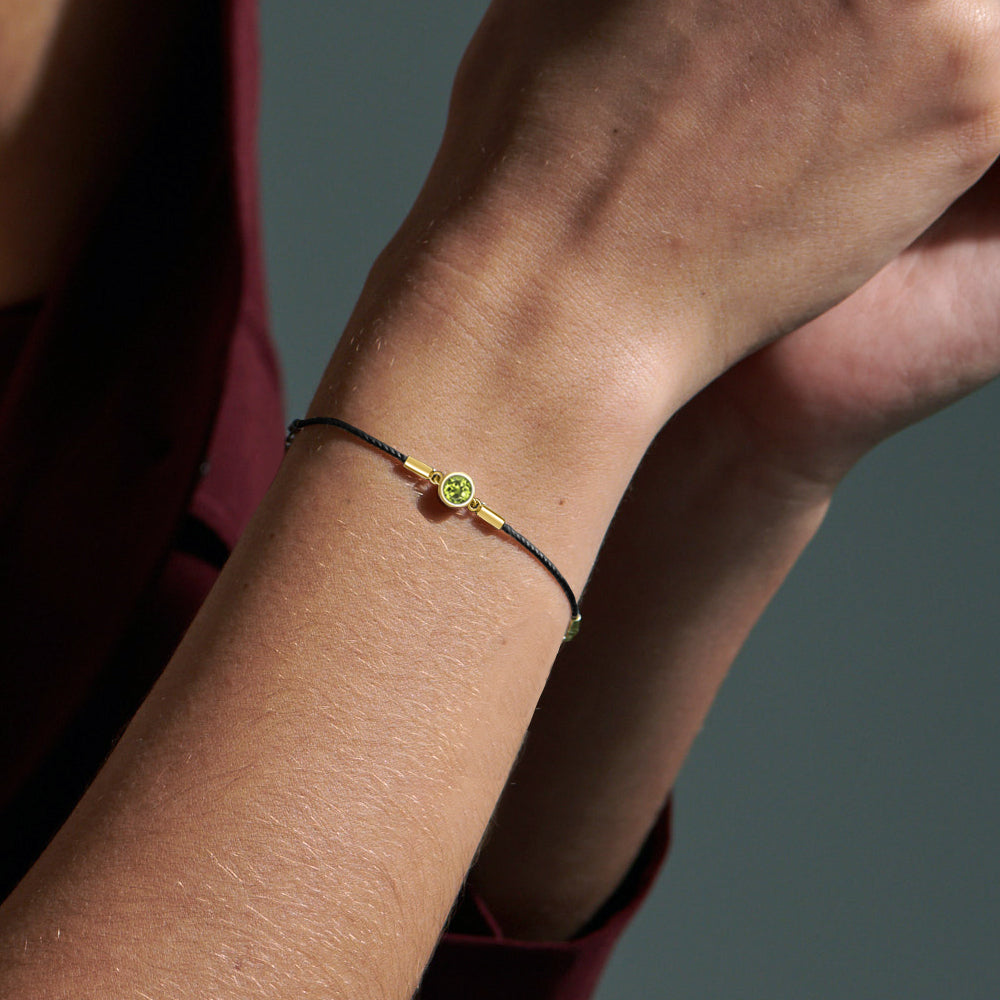 Peridot Endless Luck String-Chain Bracelet
