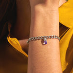 Amethyst Diamond Magic Capsule Plus Chain Bracelet