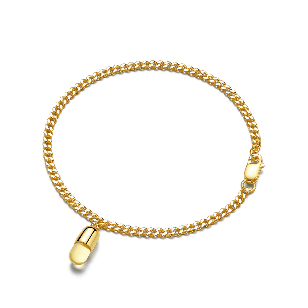 Citrine Magic Capsule Gold Bracelet