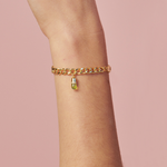 Peridot Diamond Magic Capsule Plus Chain Bracelet