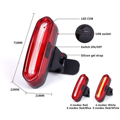 Leto USB Rechargeable Tail Light - Air Volt