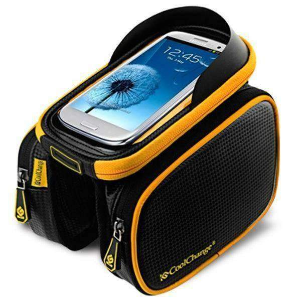 Yellow Top Tube Bicycle Bag - Air Volt