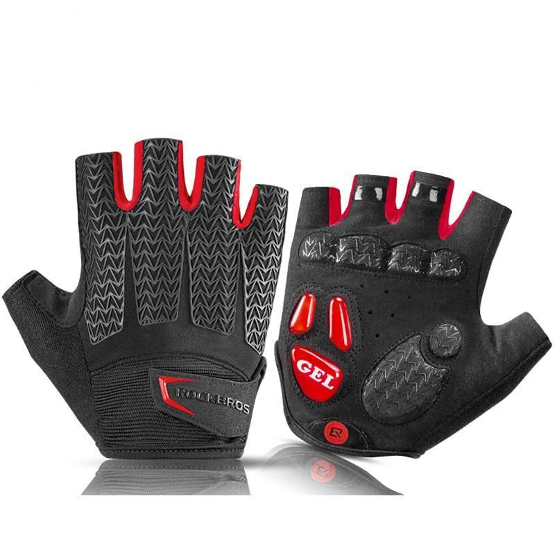 Mamba Shockproof Half Finger Gloves - Air Volt