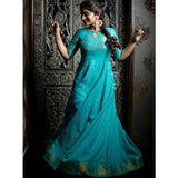 Turquoise And Gold Madurai Cotton Dresses
