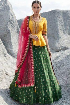 Semi-Stitched Lehenga & Blouse with Dupatta