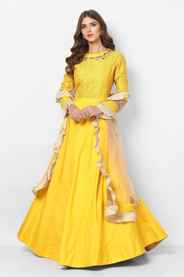 radiant yellow anarkali Dress