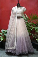 Pink & Mauve Purple Shaded lehenga