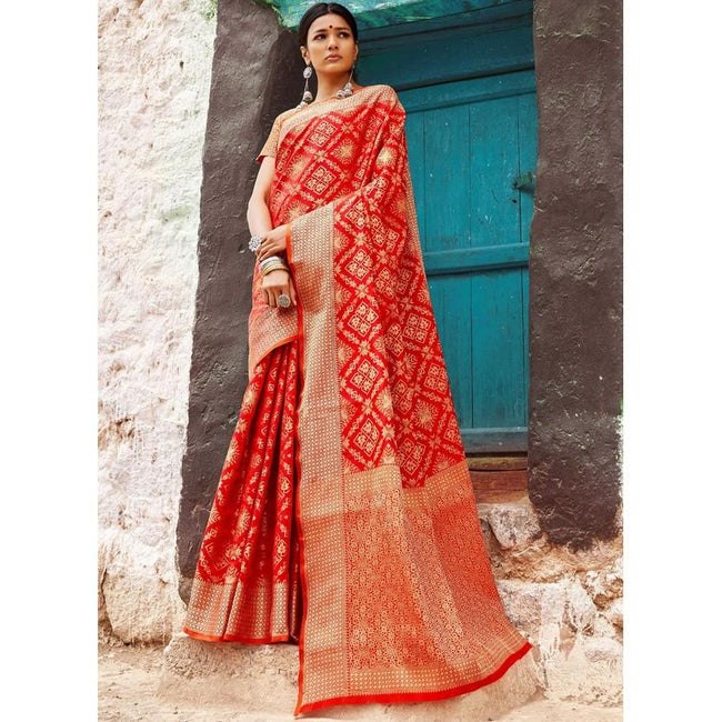 Red Patola Silk Designer Saree