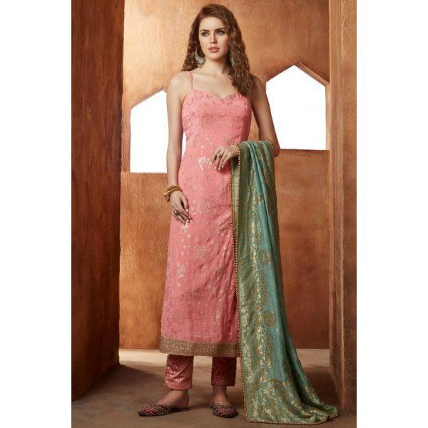 brink pink color silk Dresses