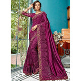 Hypnotic Purple Wedding Designer Traditional Saree