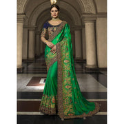 Magnetize Green Resham Designer Traditional Saree