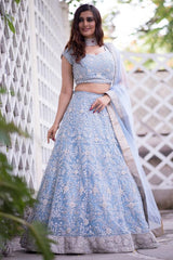 Dori, Sequins & Stone Work Blue lehenga