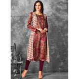 Brown And Magenta Festival Party Wear Kurti