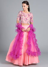 Bollywood Vogue Custom Made Pink Lehenga