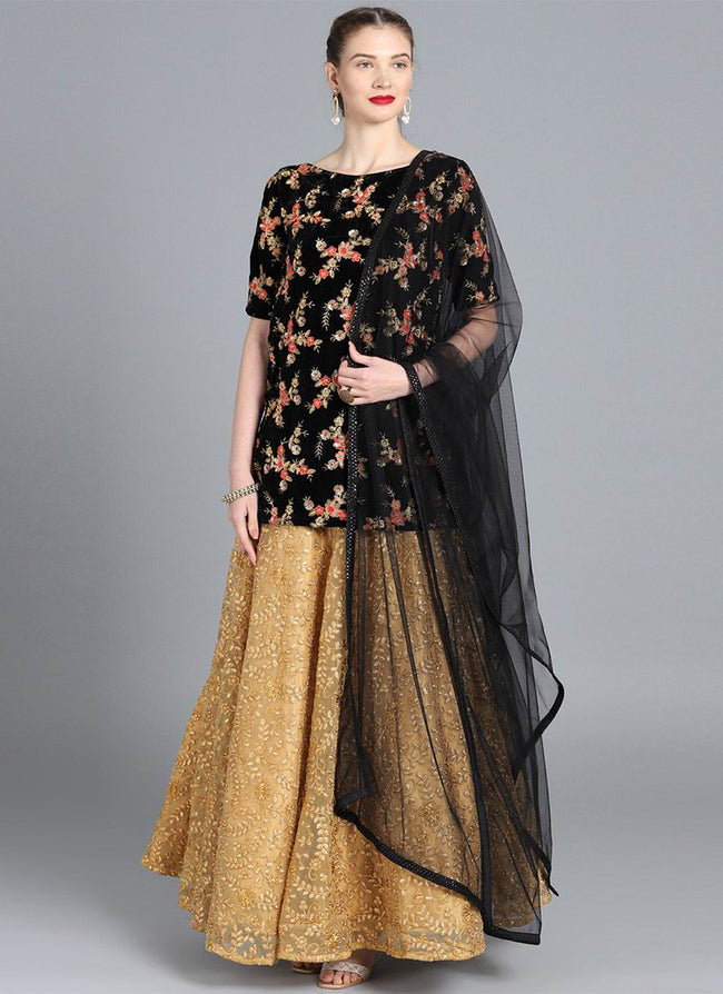 Bollywood Vogue Customised Black Lehenga Set