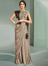 Light Brown Lycra Saree