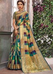 Multicolored Art Silk Benarasi Saree
