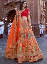 Multicolored Embroidered A Line Lehenga