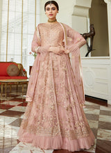 Pink Embroidered Anarkali Lehenga