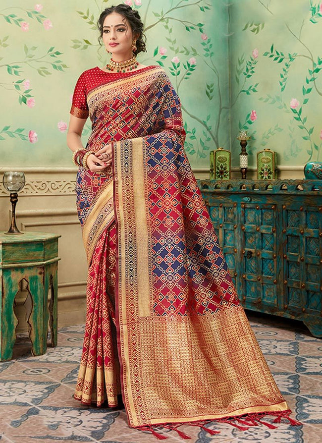 Red Banarasi Art Silk Saree