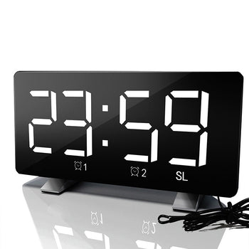 Digital FM Radio Alarm Clock With USB Charging Port