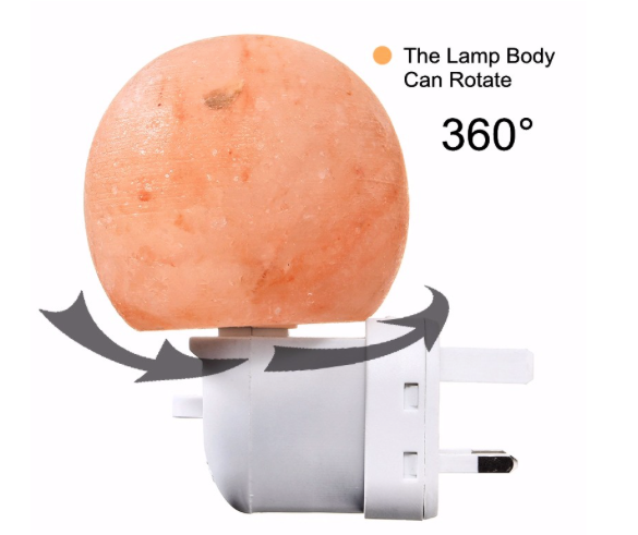 Mini Cute Hand Carved Natural Crystal Himalayan Salt Night Wall Light