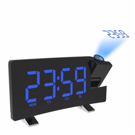 Digital Alarm Clock With FM Radio And  LED Clock Projector