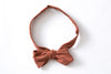 Rust Ikat Pointed Bow Tie
