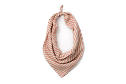 Neckerchief - Cayenne Red and White Railroad Stripe