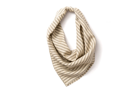 Neckerchief - Ash Grey and White Railroad Stripe
