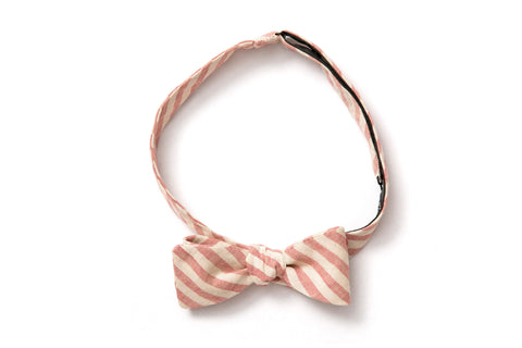 Straight Bow Tie - Cayenne Railroad Stripe