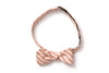Cayenne Railroad Stripe Straight Bow Tie