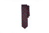 Navy Clay Check Pointed Neck Tie