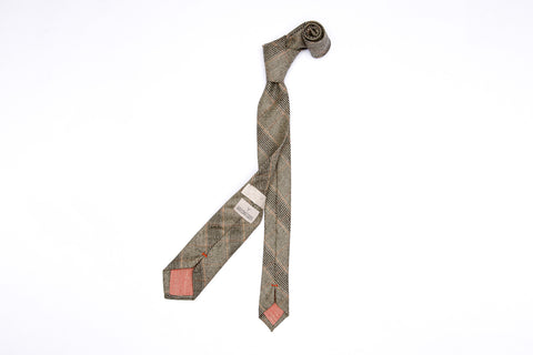 Pointed Necktie - Clay Rock Plaid