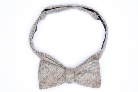 Straight Bow Tie - Ash Bisque Plaid