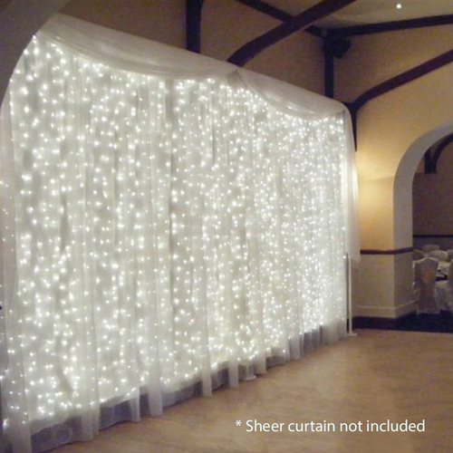 LED Curtain Lights 9' 8
