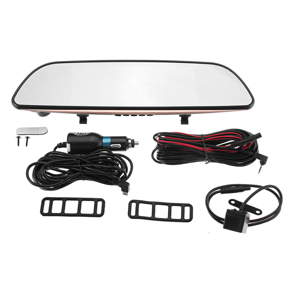 Touch Screen Car DVR Video Mirror Recorder Rear View Camera GPS
